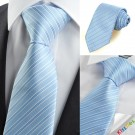 New Striped Blue JACQUARD Mens Tie Necktie Formal Wedding Party Suit Gift KT0003