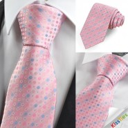 New Pink Blue Polka Dot Circle Mens Tie Necktie Wedding Party Holiday Gift KT0029