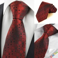 Dark Red Burgundy Gradient Swirl Paisley Mens Tie Necktie Wedding Gift KT0046