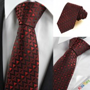 New Red Black Arrow Pattern Unique Mens Tie Necktie Wedding Holiday Gift KT0060