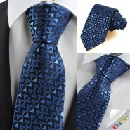 New Navy Blue Arrow Pattern Unique Mens Tie Necktie Wedding Holiday Gift KT0063