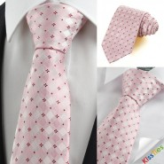New Red Pink Flora Checked Classic Mens Tie Necktie Wedding Holiday Gift KT0071