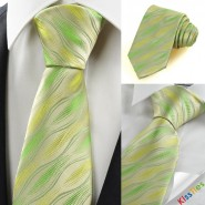 New Green Ripple Wave Pattern Mens Tie Necktie Wedding Party Holiday Gift KT0082