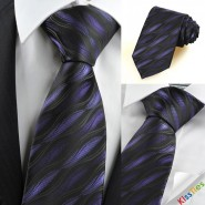 Purple Ripple Wave Novelty Mens Tie Necktie Wedding Party Holiday Gift KT0084