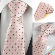 New Pink Purple Bohemian Floral Check Mens Tie Necktie Wedding Party Gift KT0093