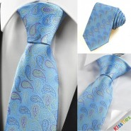 Colorful Paisley Blue Mens Tie Necktie Wedding Party Holiday Prom Gift KT0106