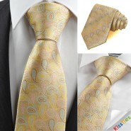 New Colorful Paisley Golden JACQUARD Mens Tie Necktie Wedding Holiday Gift KT0108