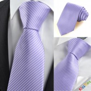 New Striped Purple White Mens Tie Suit Necktie Wedding Party Holiday Gift KT0109