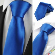 New Solid Royal Blue Mens Tie Suit Necktie Formal Wedding Holiday Gift KT1012
