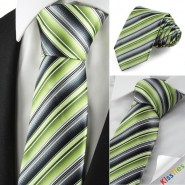 New Striped Green Classic Men Tie Suit Necktie Party Wedding Holiday Gift KT1069