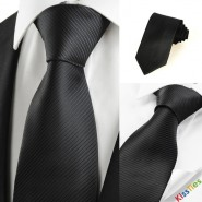 Classic Striped Black Men Tie Formal Necktie Wedding Funeral Evening Gift #0025