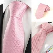 Classic Pink Dot JACQUARD Mens Tie Necktie Wedding Holiday Valentine Gift #0026