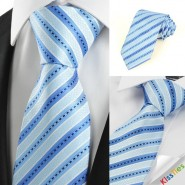 Classic Striped Baby Blue JACQUARD Mens Tie Necktie Wedding Holiday Gift #0028