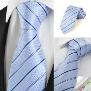 New Striped Blue JACQUARD Mens Tie Necktie Wedding Party Holiday Gift #1014