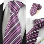 New Striped Purple JACQUARD Mens Tie Necktie Wedding Party Holiday Gift #1015