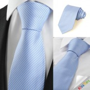 New Striped Blue Grey Formal Mens Tie Necktie Wedding Party Holiday Gift #1029