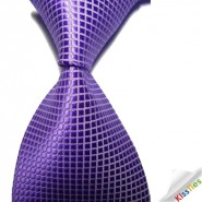 New Violet Checked JACQUARD WOVEN Mens Tie Necktie