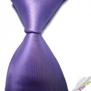 New Solid Violet Lavender Checked JACQUARD WOVEN Mens Tie Necktie
