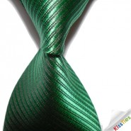 New Striped Green JACQUARD WOVEN Mens Tie Necktie